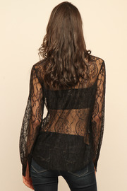 Cuffe Parade Chantlilly Lace Blouse - Back cropped
