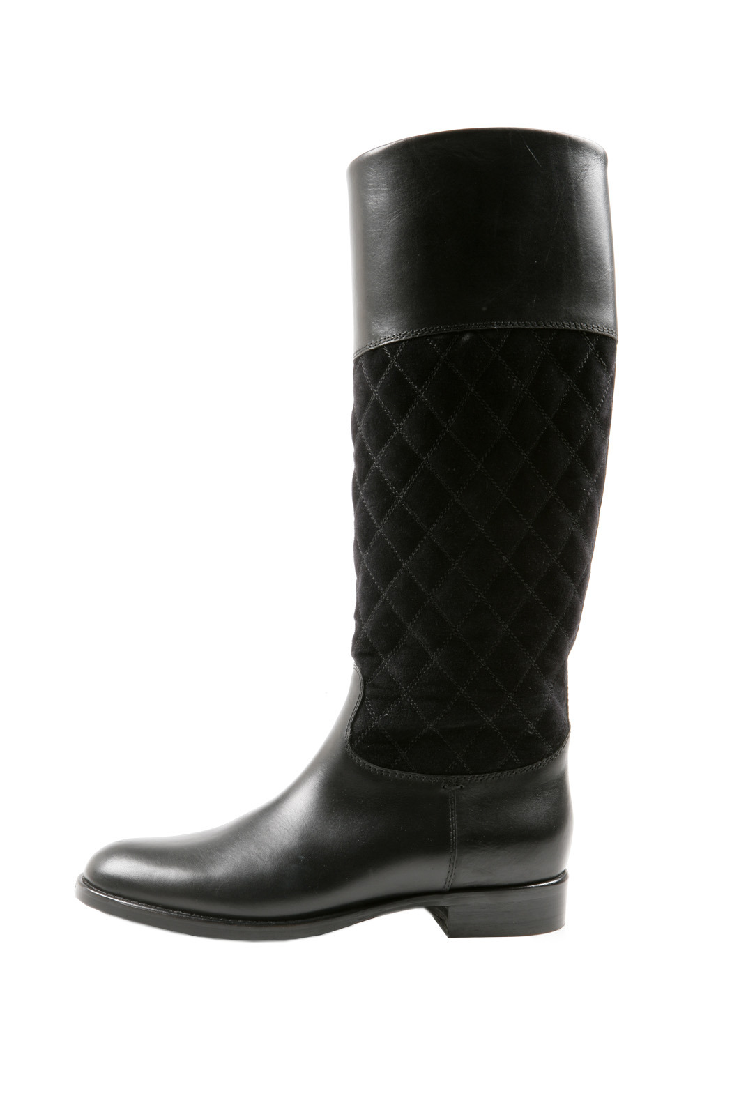 SPAZIOMODA Asymmetric Leather boots - Side Cropped Image
