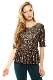 Shoptiques Product: Sequin Peplum Top