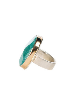 Jamie Joseph Assymetrical Amazonite Ring - Alternate List Image
