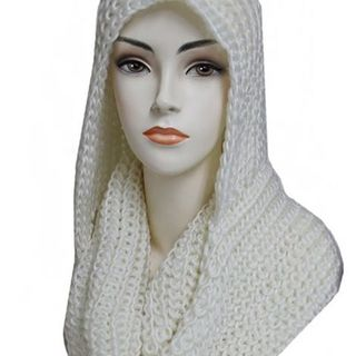 Shoptiques White Hooded Scarf