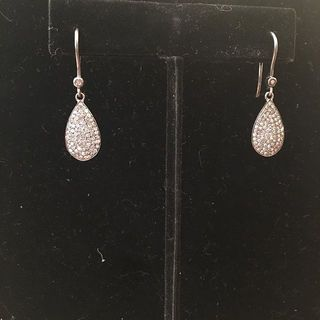 Shoptiques Product: Magnificent diamond teardrop earrings