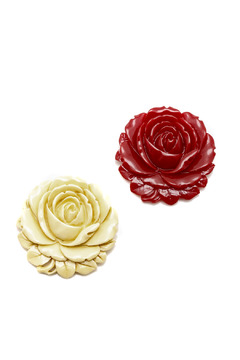 Hotcakes Design Large rose brooch - Alternate List Image