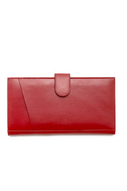 I.L.I. Red Travel Wallet - Front cropped