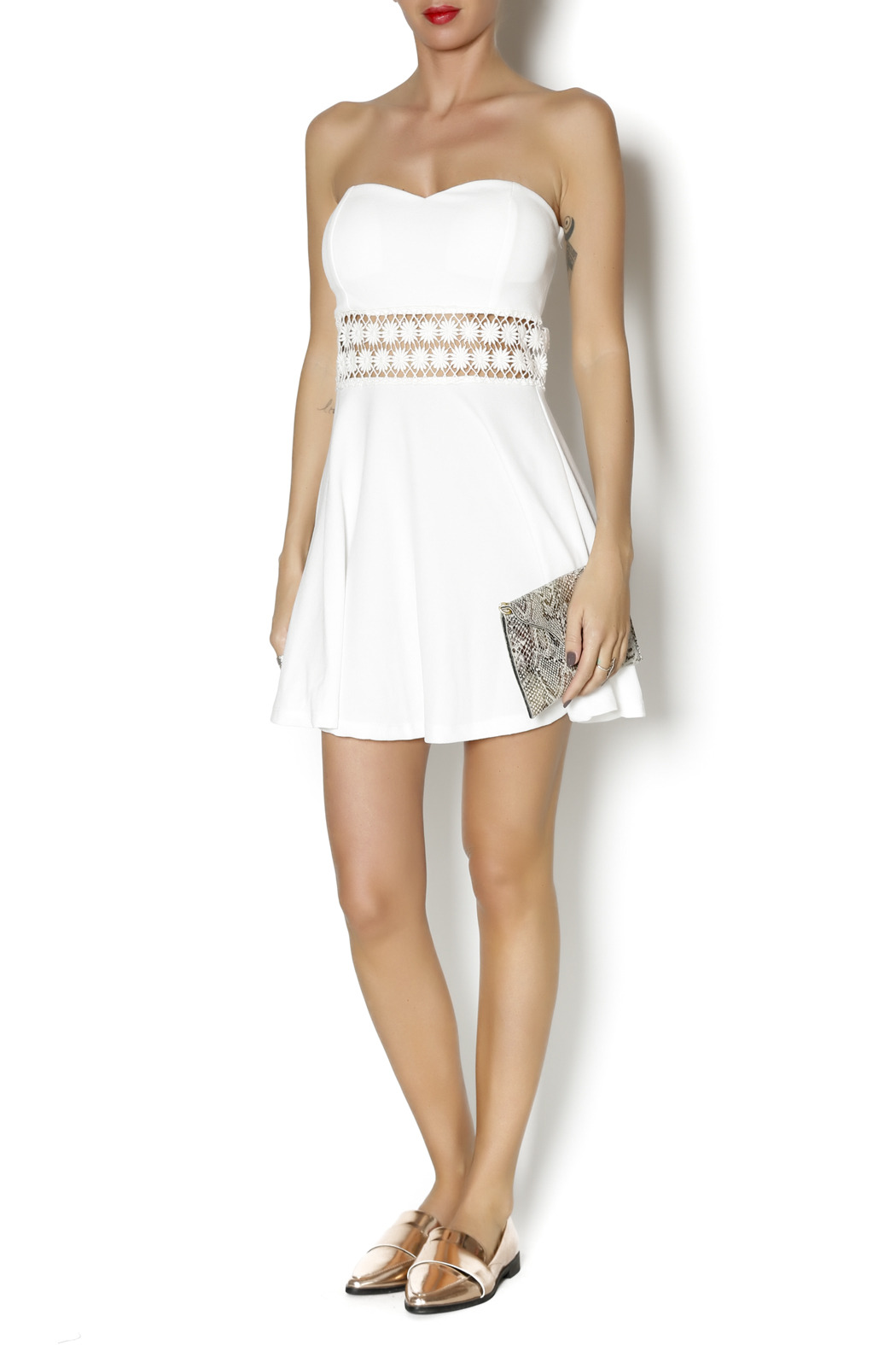 Coveted Clothing Strapless Emily Dress - Front Full Image