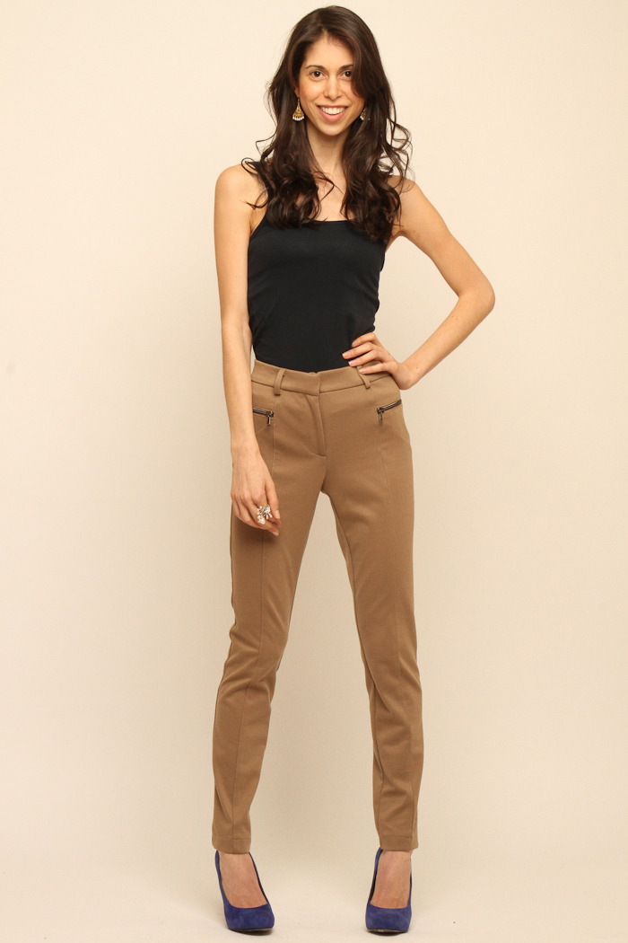 Please Jersey Skinny Pants - Front Full Image