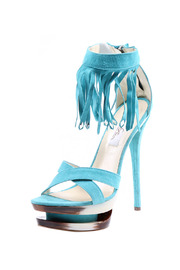 Dora By Mi-Piaci Suede High Heel Sandal - Front cropped