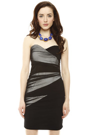 Shoptiques Product: Sideswiped Mesh Dress