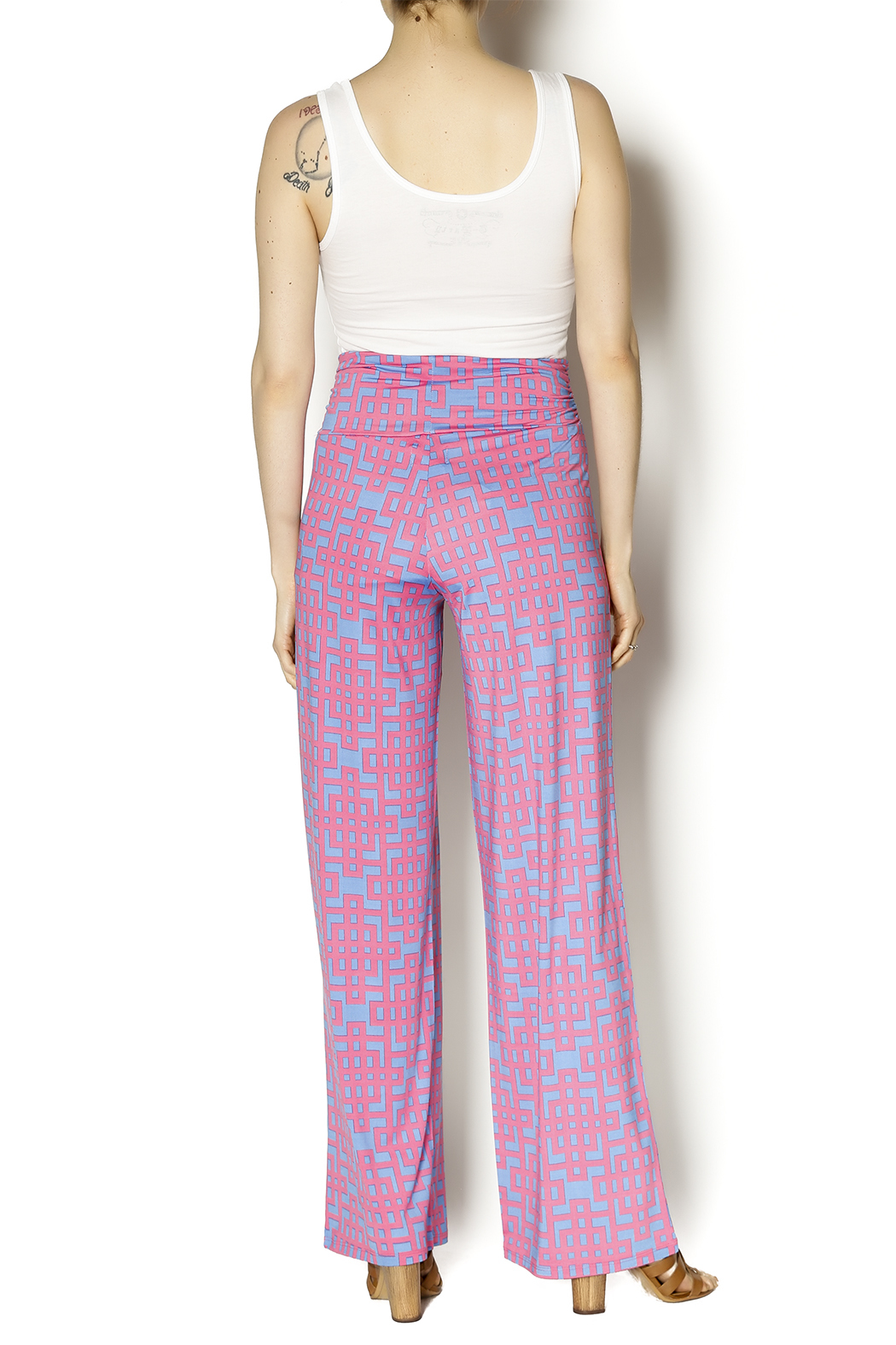 Mud Pie Harlow Palazzo Pants - Side Cropped Image