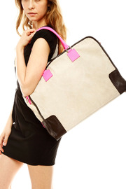 Alex-Max Large Suede Neon Bag - Front full body