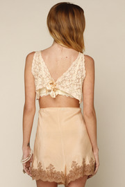 L.A. Boudoir Miami 1920's Lace Bra - Back cropped