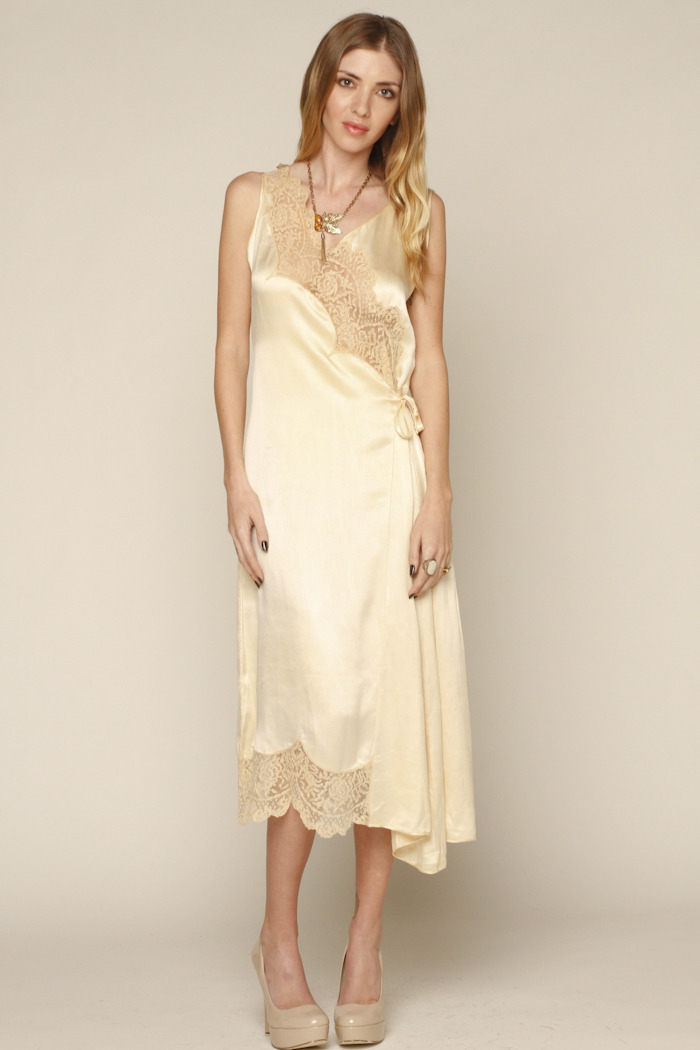 L.A. Boudoir Miami 1920's Long Night Gown - Front Full Image