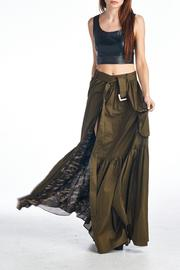 MHGS Olive Maxi Skirt - Back cropped