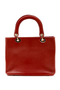 Shoptiques Product: Red Pebble-Leather Bag