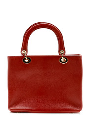 Passports Red Pebble-Leather Bag - Front cropped