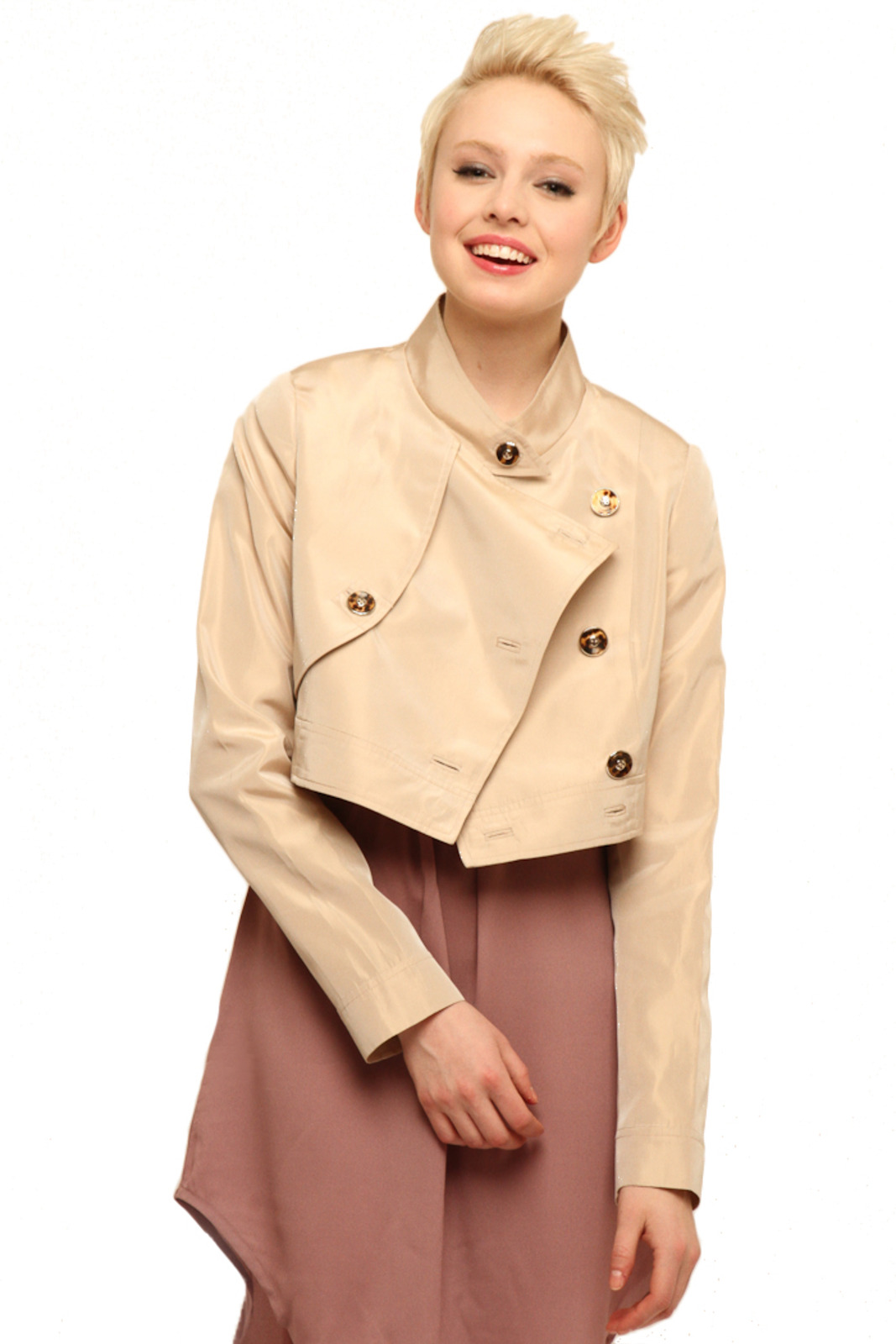Tiffany Lawrence Holmes Cropped Trench - Front Cropped Image