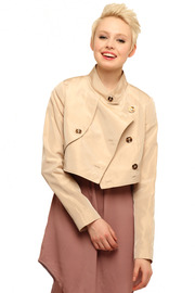 Shoptiques Product: Holmes Cropped Trench - Front cropped