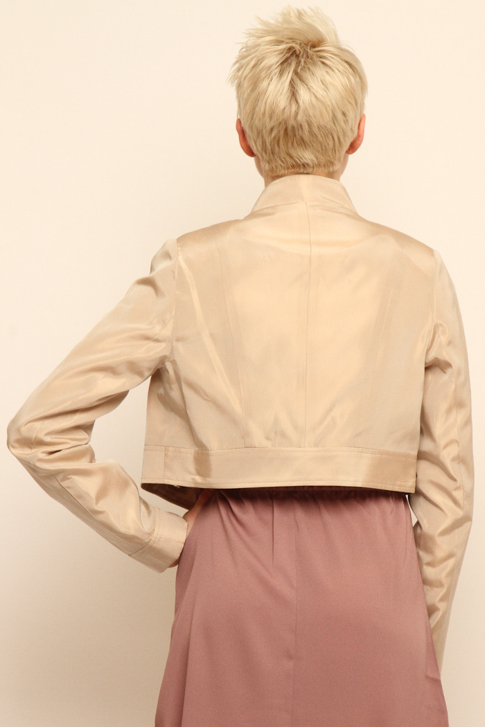 Tiffany Lawrence Holmes Cropped Trench - Back Cropped Image
