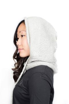 Shoptiques Product: White Hooded Cowl
