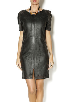 My Tribe Perforated Leather Dress - Product List Image