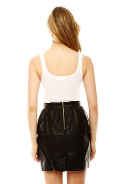 Moon Collection Pleather Skirt - Alternate List Image