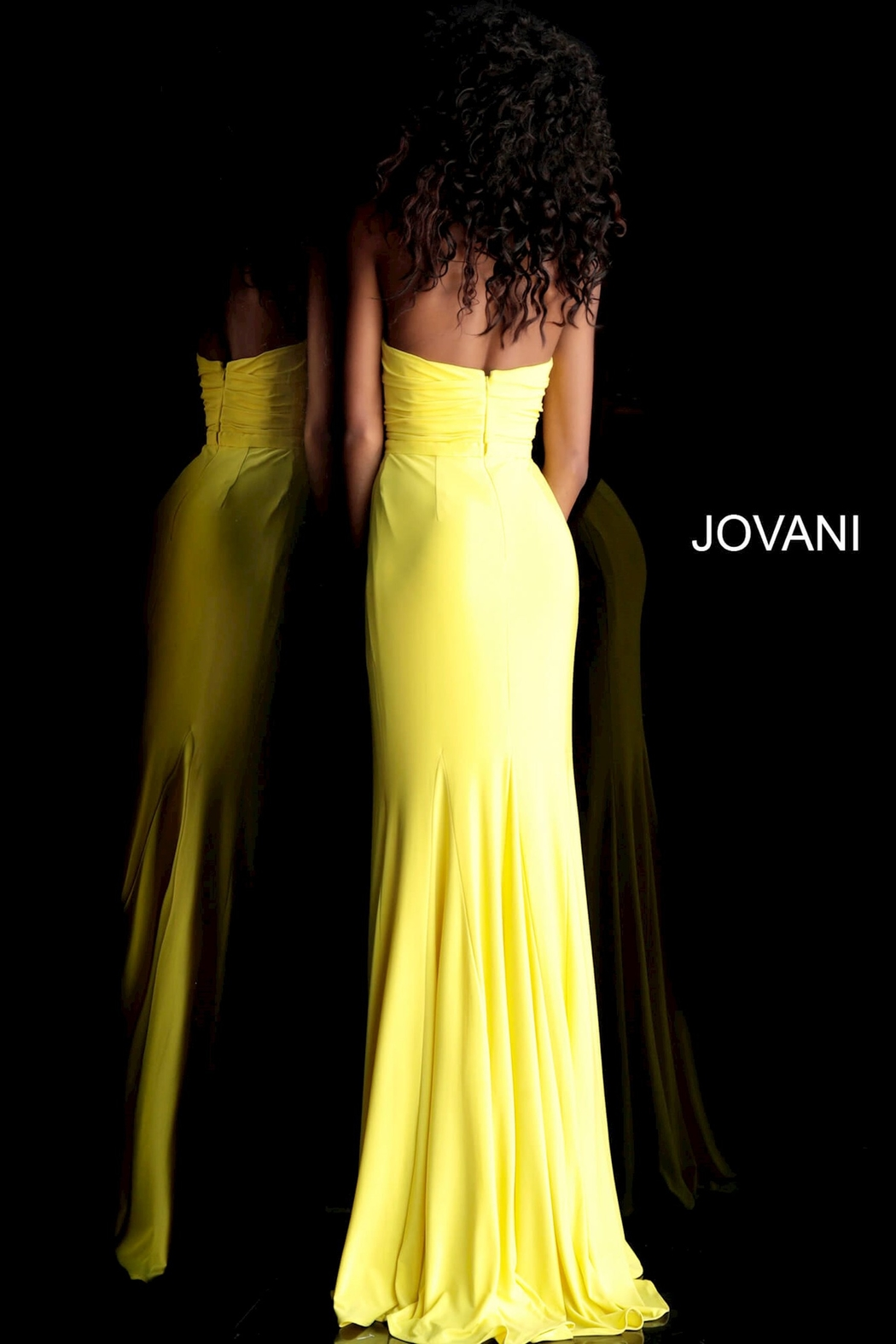 Jovani Strapless Gown - Front Full Image