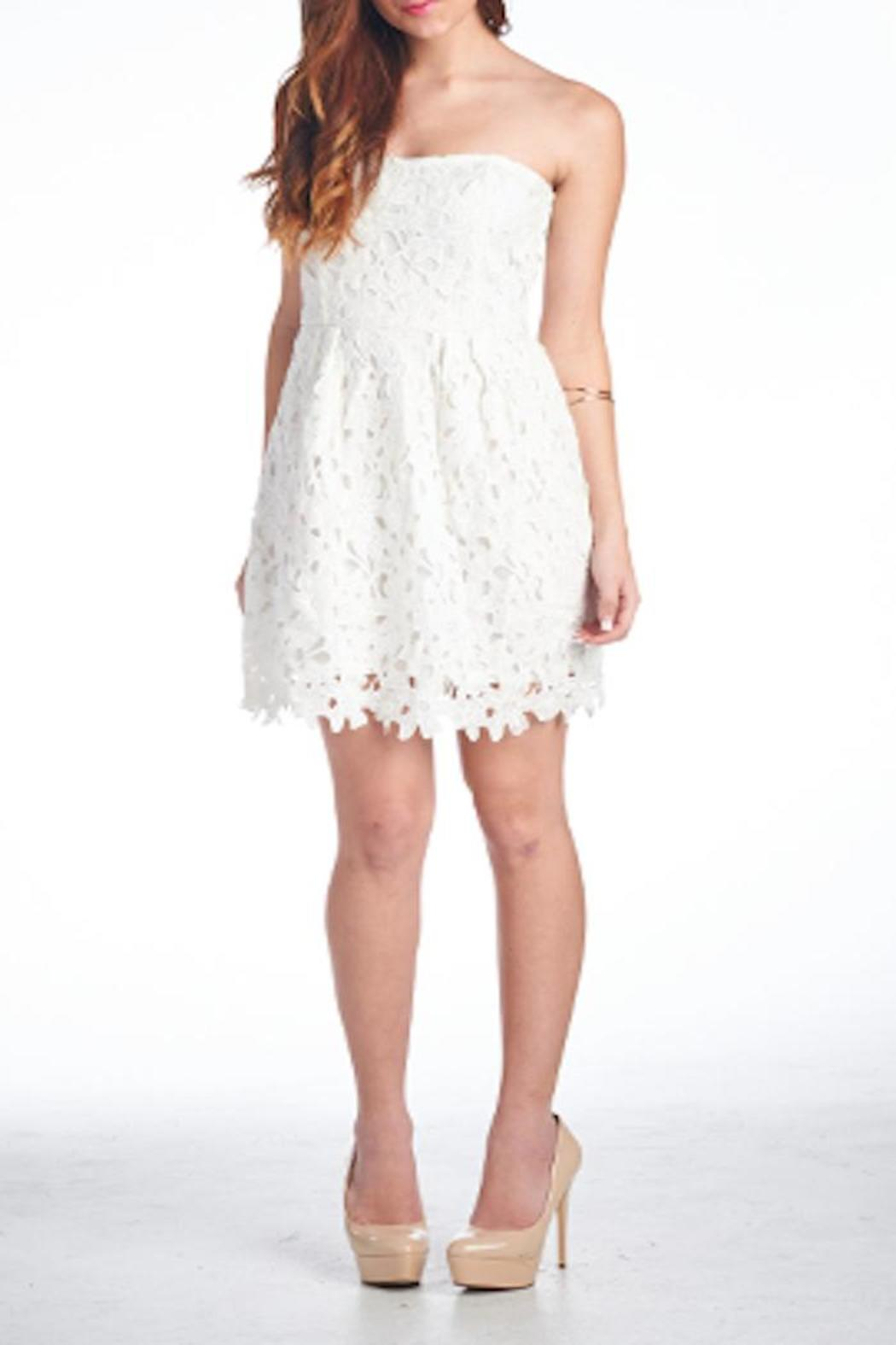 Ellison White Lace Dress - Front Cropped Image