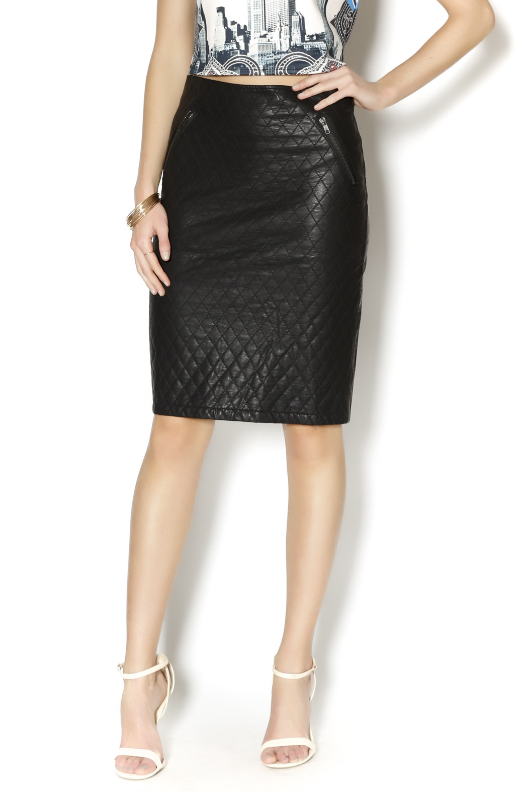 gracia quilted leather skirt from by galys