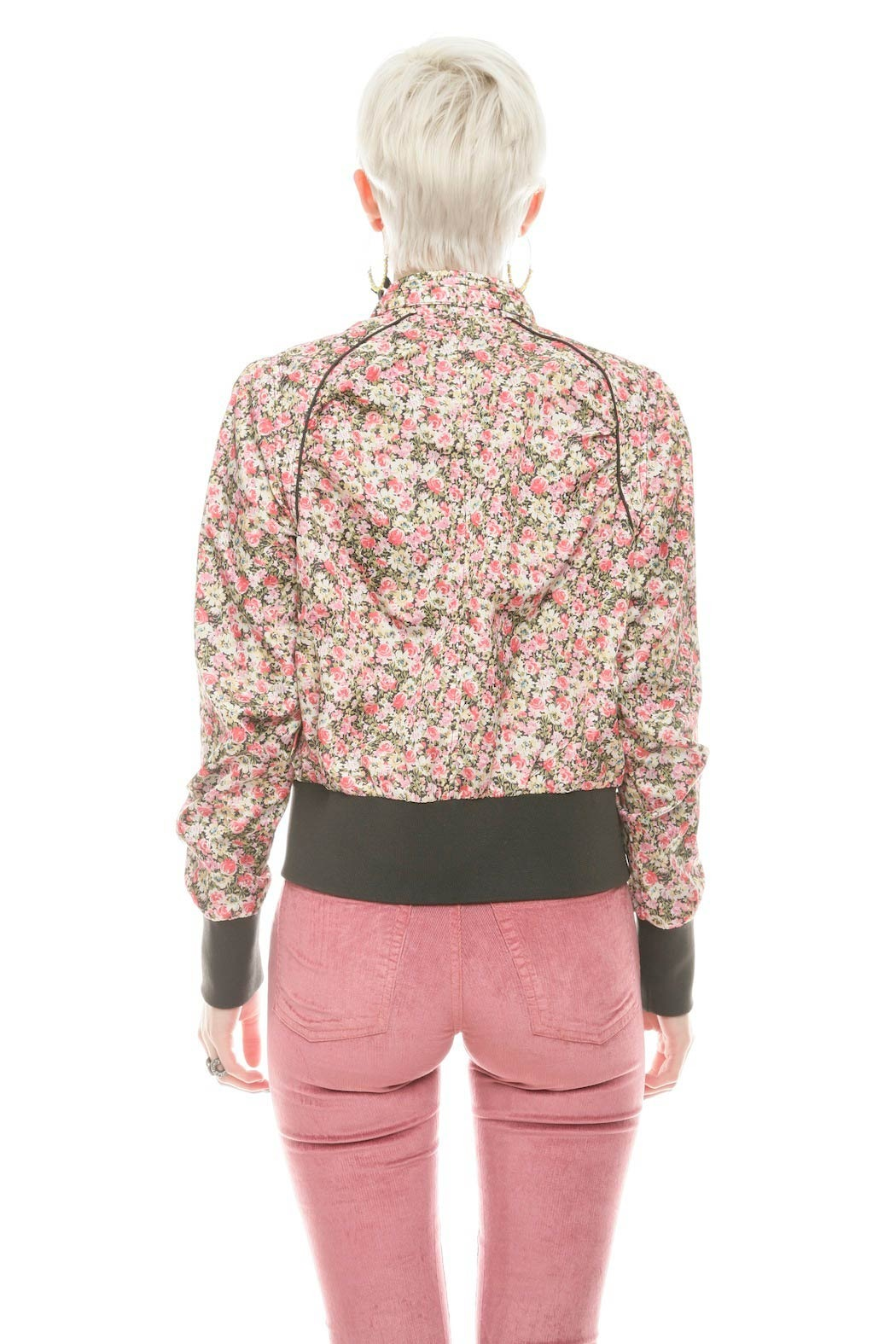 Members Only Floral  Bomber Jacket - Back Cropped Image