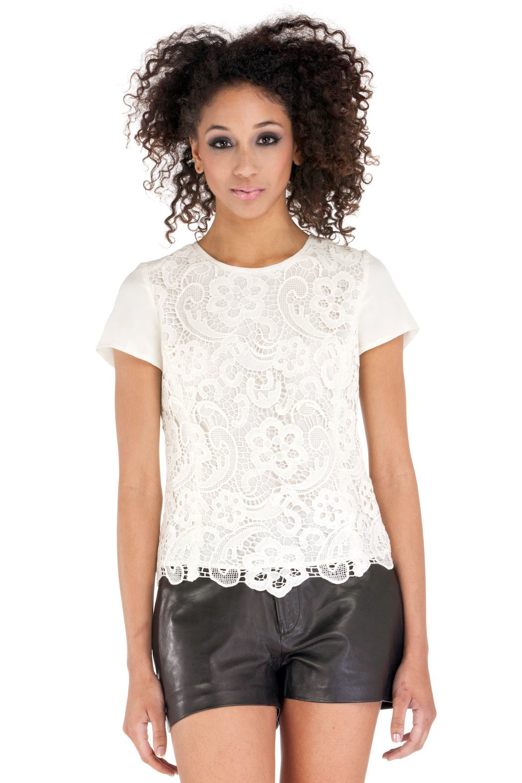 Rebecca Taylor Embroidered Lace Blouse - Main Image
