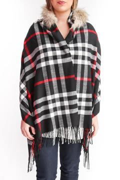 Wish Collection Hooded Black Poncho - Product List Image