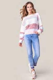 Tribal  6837O-4292 Boat Neck LS Sweater - Product Mini Image