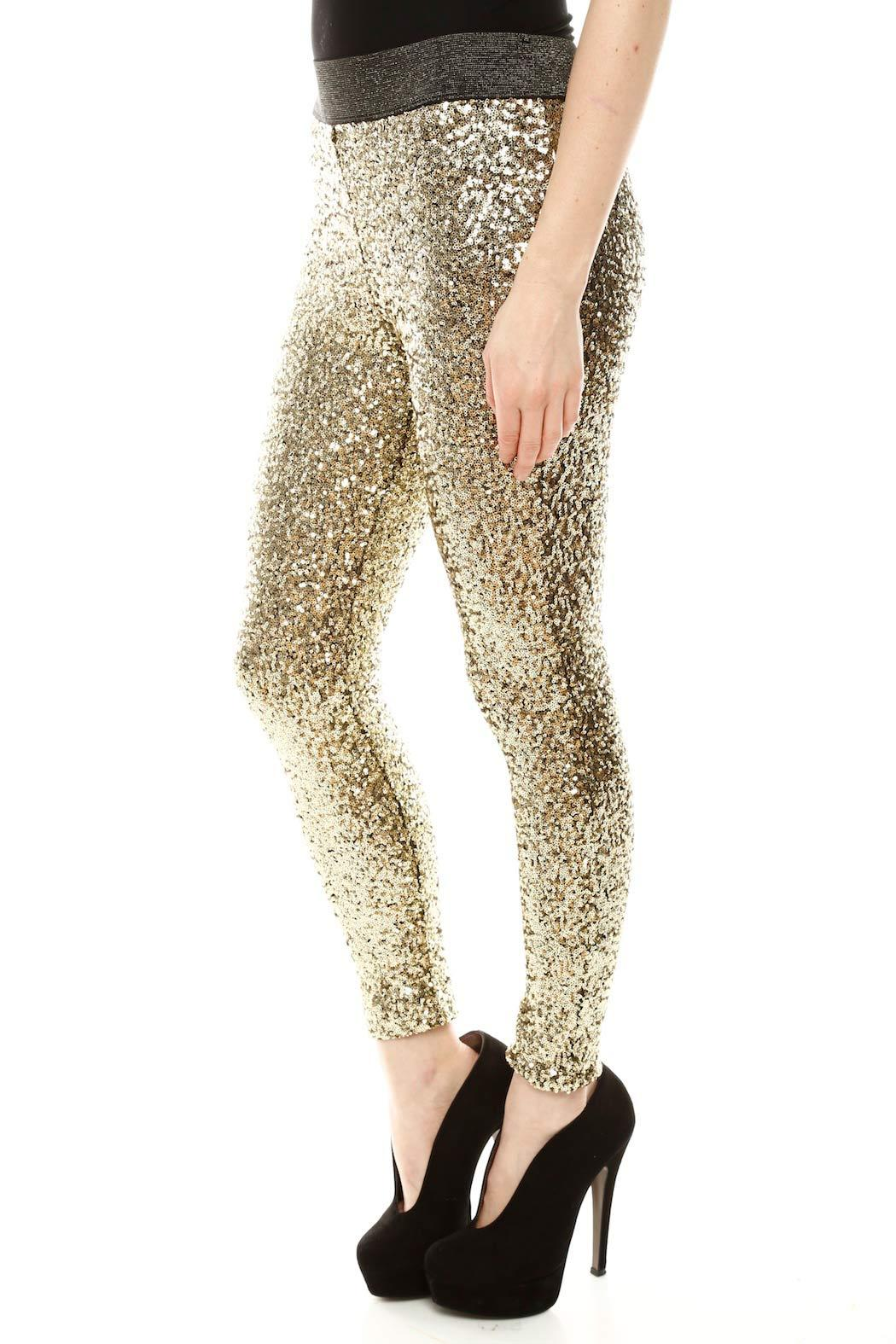Do & Be Sequin Leggings - Side Cropped Image