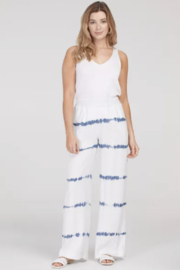 Tribal  6884O-1376-PULL ON WIDE LEG PANTS-WHITE - Front cropped