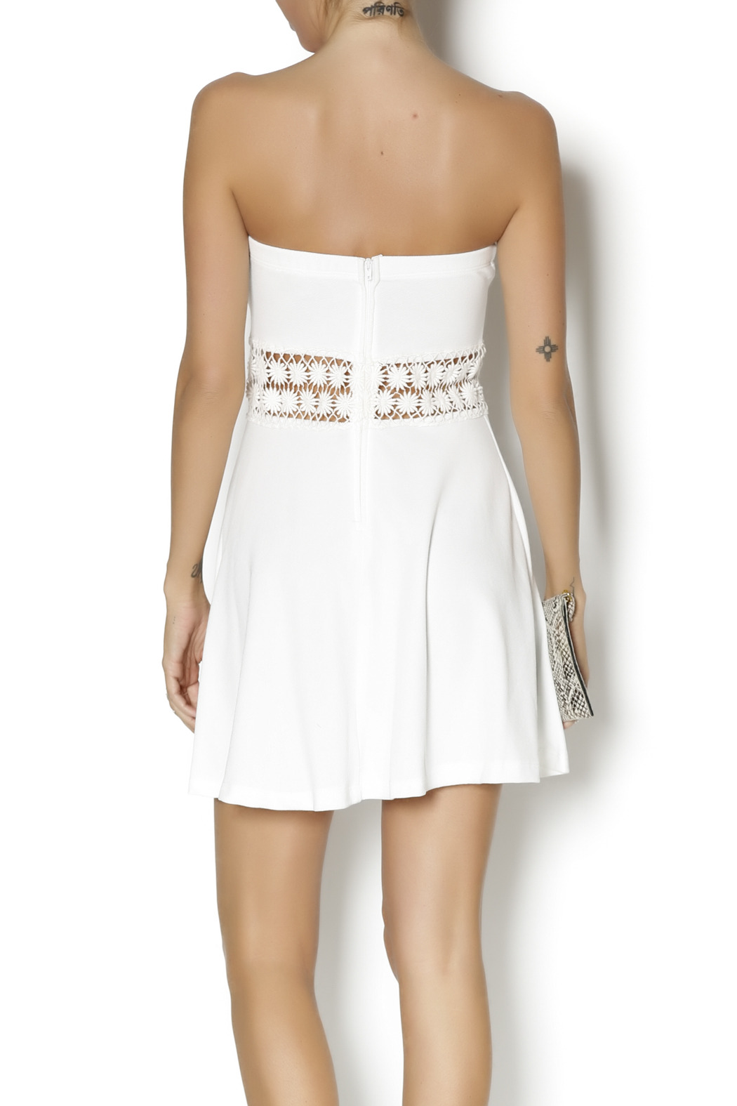 Coveted Clothing Strapless Emily Dress - Back Cropped Image