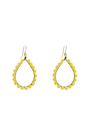 KTCollection Beaded Yellow Teardrops - Front cropped