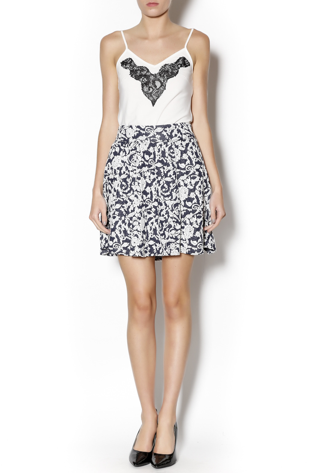Angie Floral Swing Skirt - Front Full Image