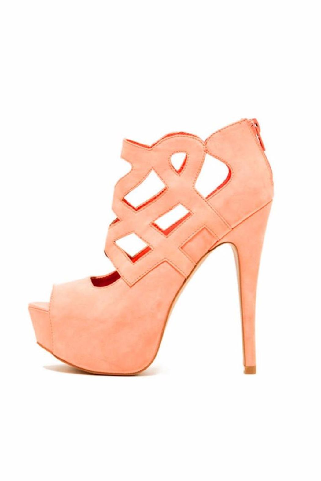 Qupid Caged Peep-Toe Stiletto - Front Cropped Image