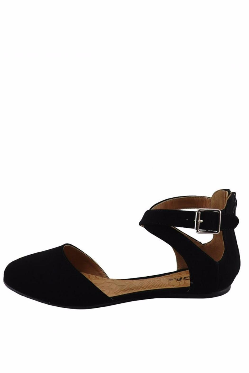 Soda Round-Toe Ankle-Strap Flat - Front Cropped Image