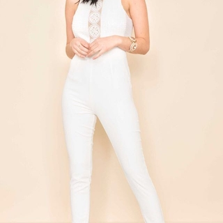 Unknown Factory White Jumpsuit - Instagram Image