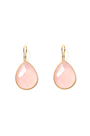 ROUGE Pink Tear Drop Earrings - Front cropped