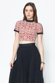 Nameless Aztec Print Crop Top - Front cropped