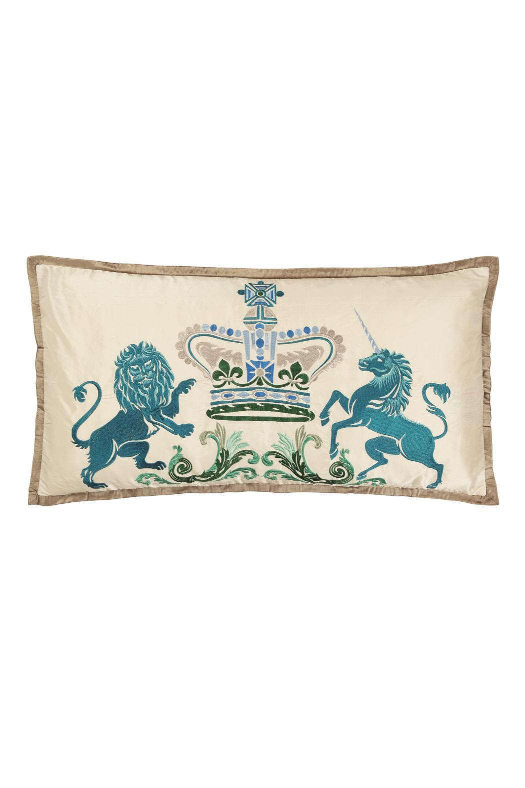 Designers Guild Coat Arms Pillow From Palm Beach By Petite