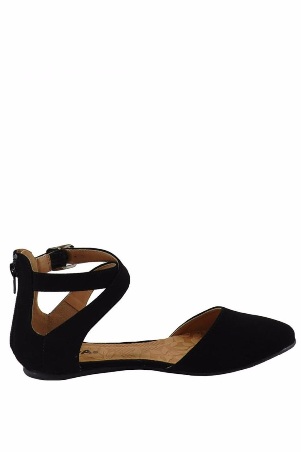 Soda Round-Toe Ankle-Strap Flat - Front Full Image