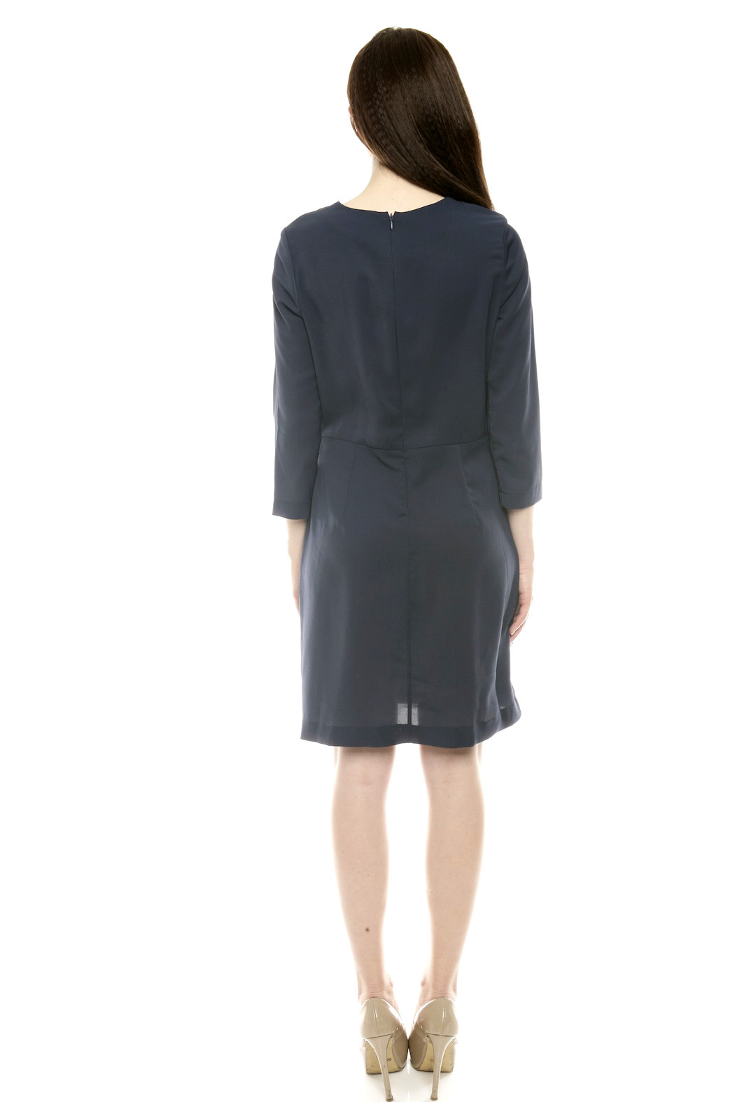 Moon Wrap Front Cocktail Dress - Back Cropped Image