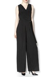 Last Tango Belted Black Jumpsuit - Product Mini Image