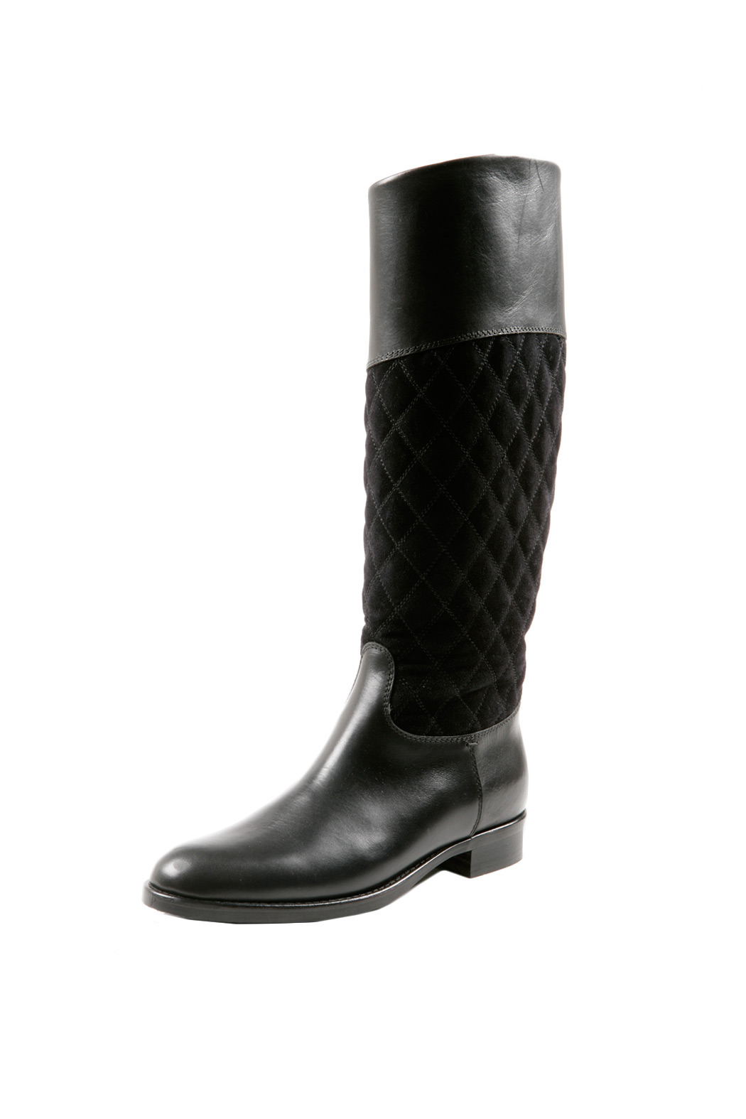 SPAZIOMODA Asymmetric Leather boots - Front Cropped Image