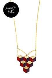 Shoptiques Product: Multi-color Cubes Necklace