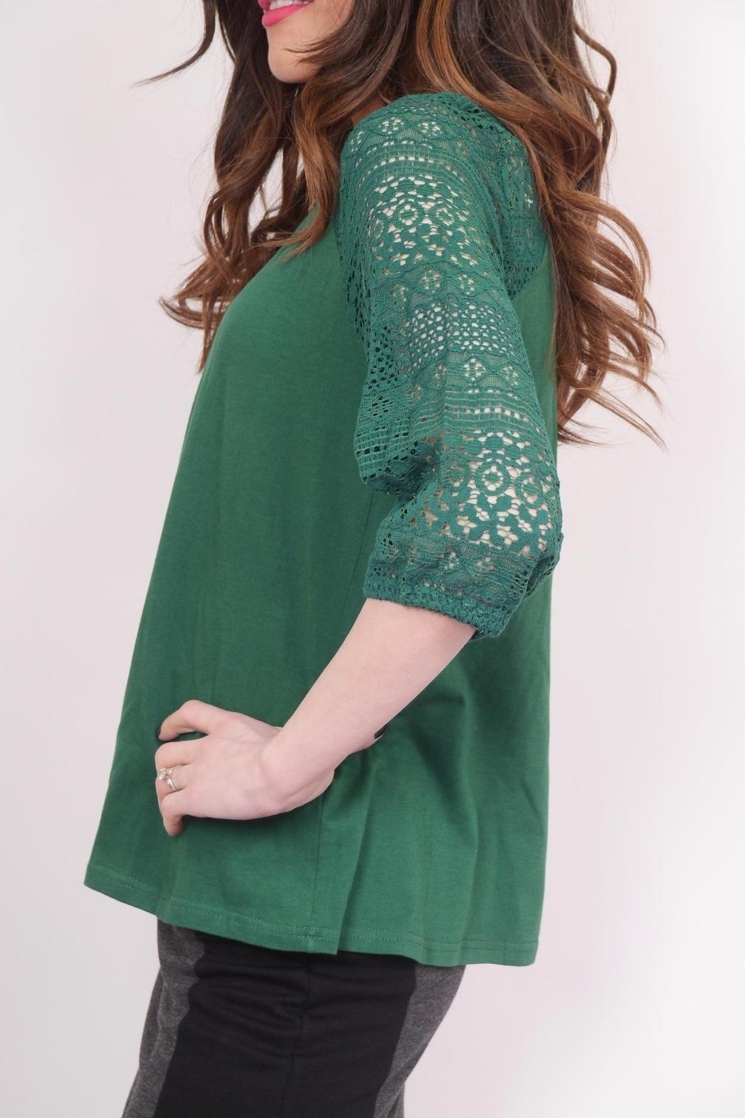 Schona Lace Sleeve Top - Side Cropped Image