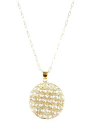 Shoptiques Product: Semi Precious Stone Disc Necklace